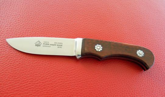 Jagdmesser Puma wapiti wood 9 cm, Integral, Schlangenholz