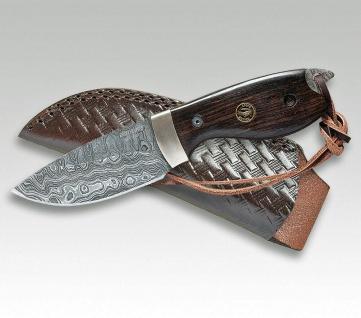 Jagdmesser Croco Damascus 18 Eberholz von Linder aus Solingen