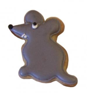 Keks-Plätzchen Ausstechform Maus, Weißblech, 5 cm. RBV Birkmann
