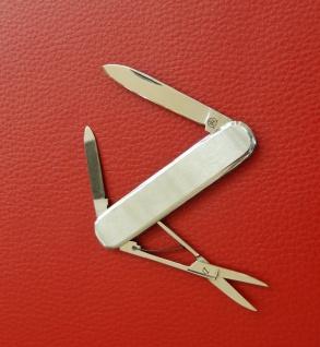 Taschenmesser, 3-tlg., Stahl 1.4034, Edelstahl-Heft von F.Hartkopf