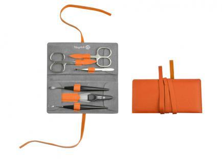 Maniküre Etui von Niegeloh Decora L 6 tlg- cox orange aus Solingen