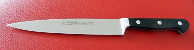 Schinkenmesse Zubereitungsmesser Küchenmesser 18 cm - X50 Cr Mo V15 von ISS Solingen