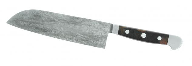 Güde Santoku aus Damast-Stahl- - 18 cm. aus Solingen