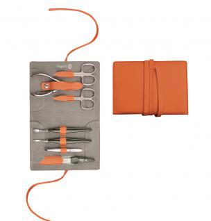 Maniküre Etui von Niegeloh Decora XL 7tlg- cox orange aus Solingen