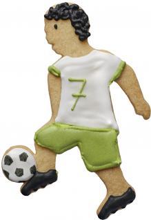 RBV Birkmann Keks - Plätzchen Ausstechform , Fußballer, Edelstahl, 11, 5 cm.