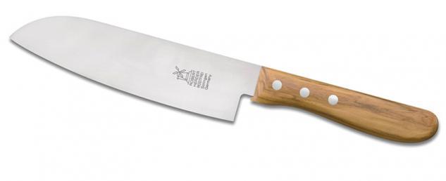 """Windmühlenmesser Kochmesser Küchenmesser """" Santoku"""" - olive 17, 5 cm rostfrei. aus Solingen"""