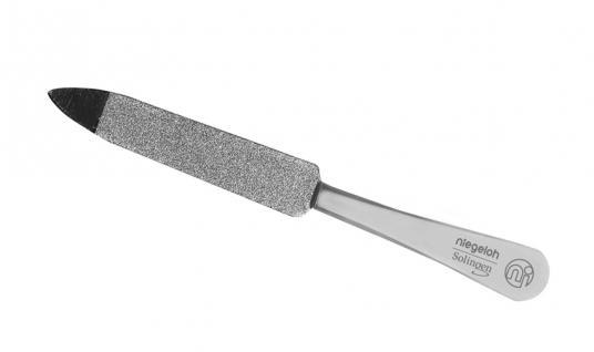 Saphir-Nagelfeile, Edelstahlfeile 9 cm. Niegeloh aus Solingen