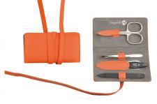 Maniküre Etui von Niegeloh Decora M 4 tlg- cox orange aus Solingen