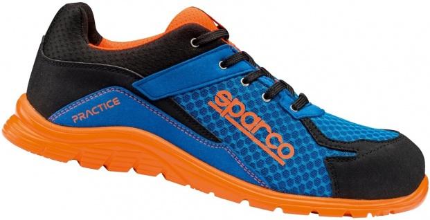 Sparco Sicherheitsschuhe Blue Orange Practice S1P