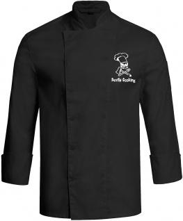 Kochjacke Devils Cooking mit Druckknöpfen schwarz