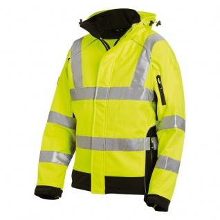 FHB FELIX Warnschutz-Softshell-Jacke, gelb-schwarz