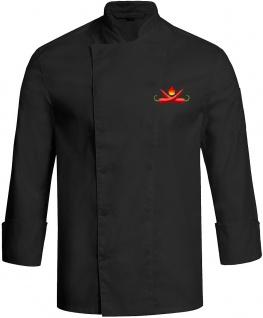 Kochjacke CHILI schwarz mit Druckknöpfen