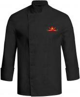Kochjacke CHILI schwarz mit Druckknöpfen - Vorschau 3