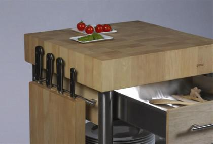 JOKO Küchenwagen 1 Schublade Platte Weissbuche - Vorschau 2