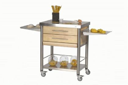JOKO Küchenwagen mit 2 Schubladen Edelstahl - Kaufen bei Gastro-Planet