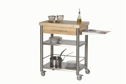 JOKO Küchenwagen 1 Schublade Platte Weissbuche - Vorschau 1