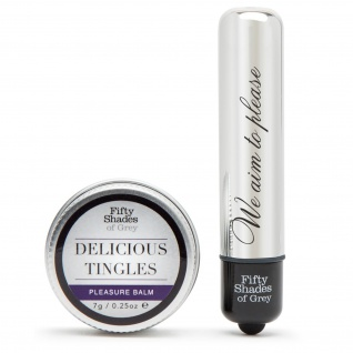 Fifty Shades of Grey »Delicious Tingles« - Minivibrator & Balsam