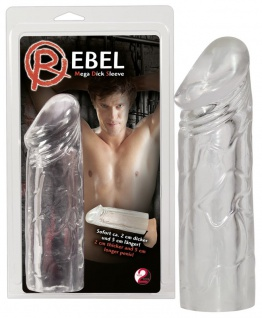 Penishülle »Rebel Mega Dick Sleeve« - 19 cm lang - Transparent