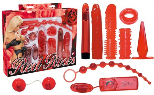 Lovetoy-Set »Red Roses« - Rot - 9-teilig