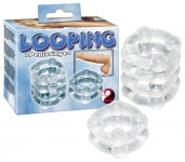 Penisringe Set »Looping« - 2 Stück - Transparent