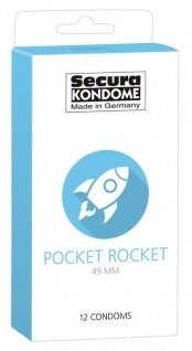 Secura Kondome »Pocket Rocket 49 mm«
