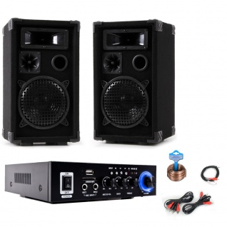 PA Party Musikanlage Boxen Karaoke Verstärker Bluetooth USB SD MP3 DJ-Party 9