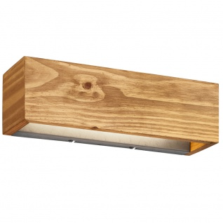 LED Design Wand Lampe Holz UP DOWN Strahler Wohn Arbeits Zimmer Beleuchtung DIMMBAR