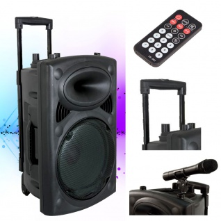 Mobile Beschallungsanlage Beschallung Funkmikrofon Bluetooth DJ PA USB MP3 PORT10VHF-BT
