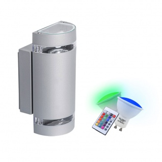 Wand Lampe Leuchte Farbwechsler Up and Down im Set inklusive RGB LED Leuchtmittel