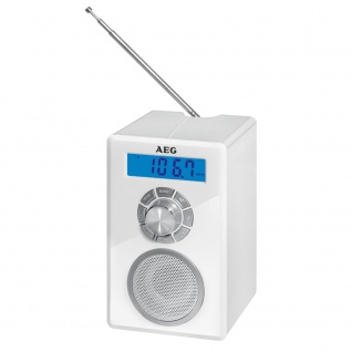 Radio Bluetooth Uhr Teleskopantenne Lautsprecher LCD Display AEG MR 4139 BT weiß