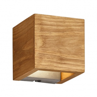 LED Holz Wand Lampe DIMMBAR Wohn Zimmer Beleuchtung Up Down Strahler Trio 223710130