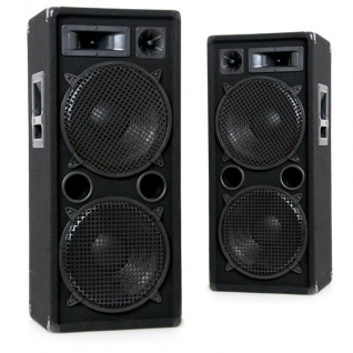 2000W PAAR PA Party Disco Boxen 2 x 30 cm Bass Lautsprecher Liston Disco 212