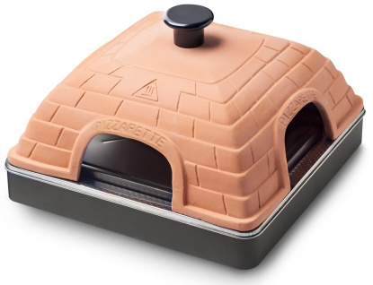 Terrakotta Pizzarette Back Automat Steinofen 4 Mini Pizzen Pizzadom Waves PO-109258