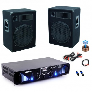 3000W PA Party Musikanlage Omnitronic Lautsprecher Bluetooth USB MP3 Verstärker DJ-Bounce 3