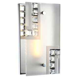 LED Wand Leuchte Touch Dimmer Wohnraum Glas Kristall Lampe EEK A 1-flammig Globo 41714-4