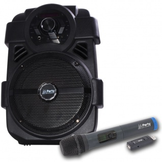 Tragbare 250 Watt Karaoke Sound Anlage Bluetooth Radio MP3 USB Funk Mikrofon
