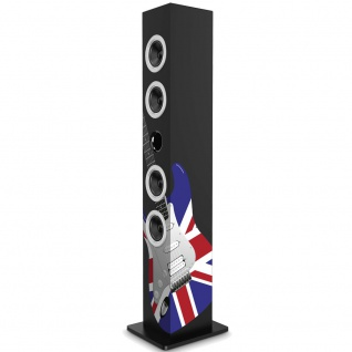Sound Tower Union Jack Gitarre 2.1 Bluetooth Party Musik Turm schwarz Big Ben TW8_UK-Guitar - Vorschau 1