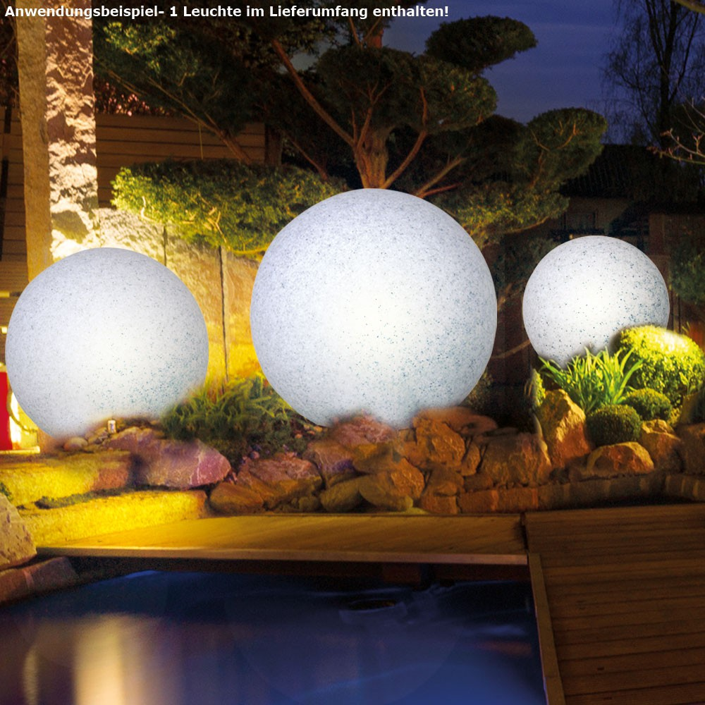7 watt led outdoor steck kugel lampe granit stein design rasen beleuchtung eek a kaufen bei. Black Bedroom Furniture Sets. Home Design Ideas