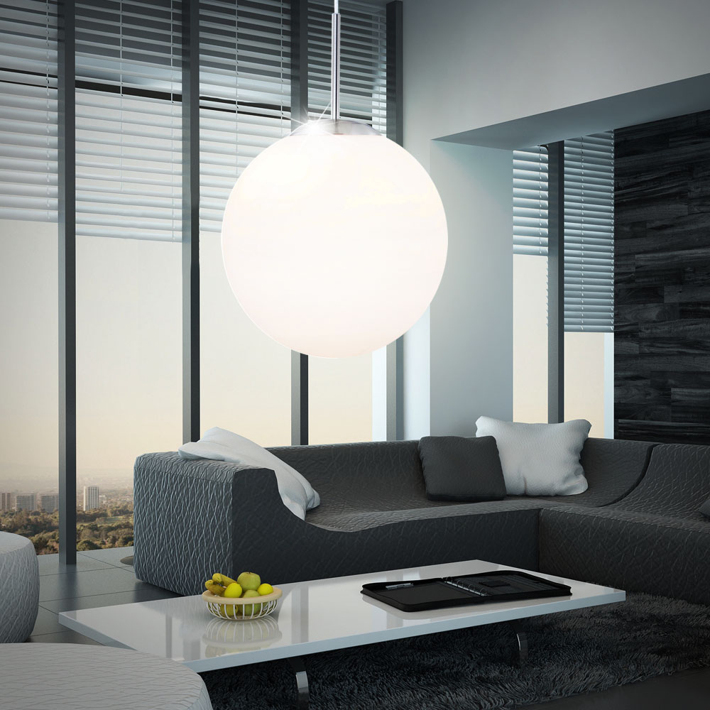 led 6 watt pendelleuchte h ngelampe wohnzimmer opal kugel beleuchtung design kaufen bei www. Black Bedroom Furniture Sets. Home Design Ideas