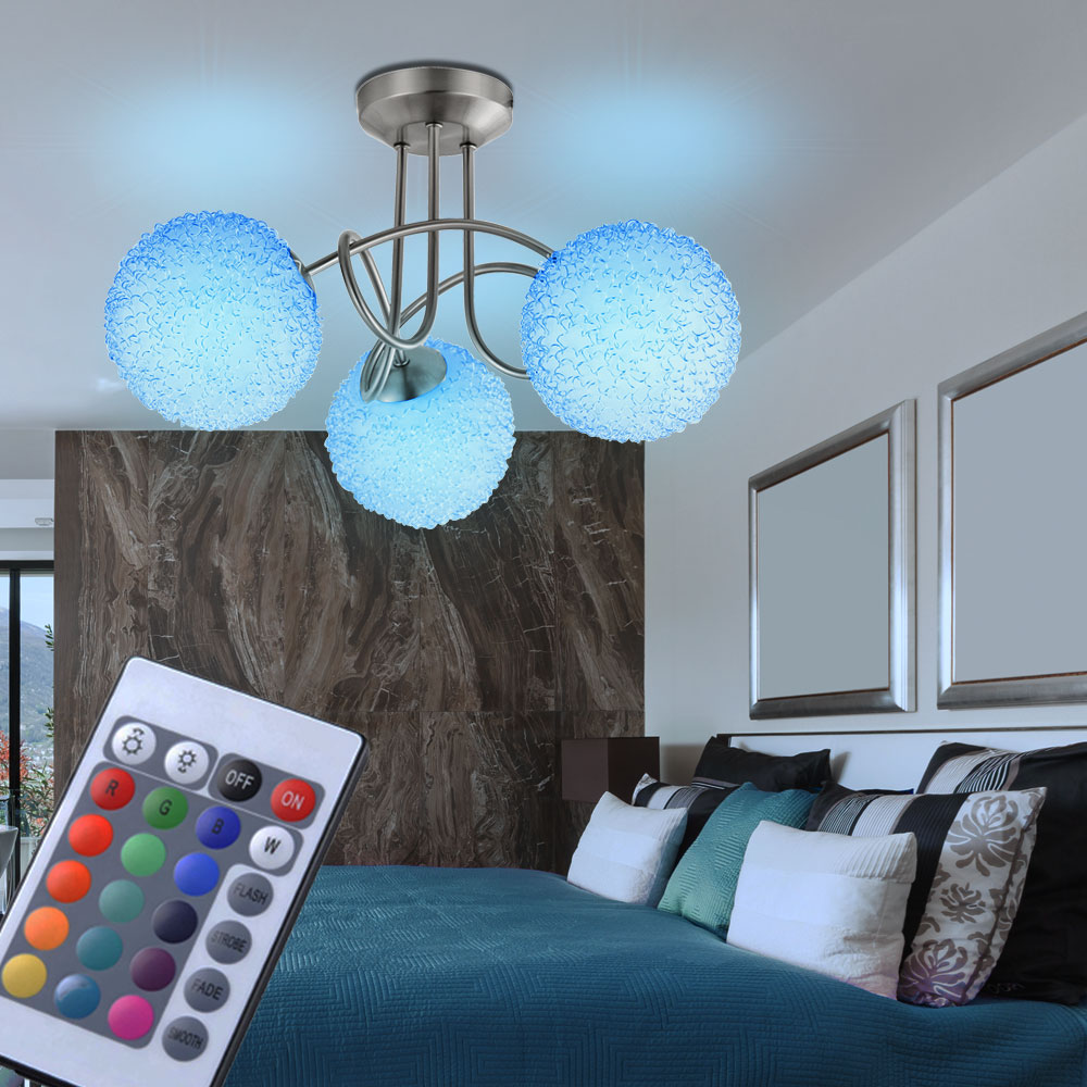 led rgb 10 5w decken leuchte kugel alugeflecht. Black Bedroom Furniture Sets. Home Design Ideas