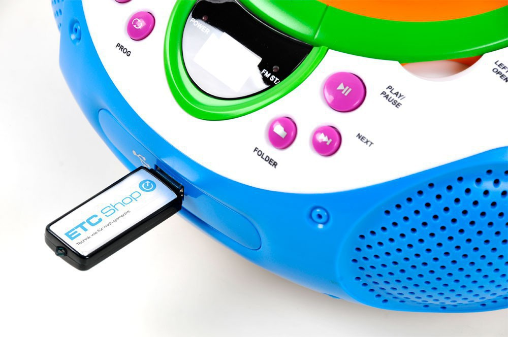 Stereo musik anlage kinder radio toplader cd mp player aux usb