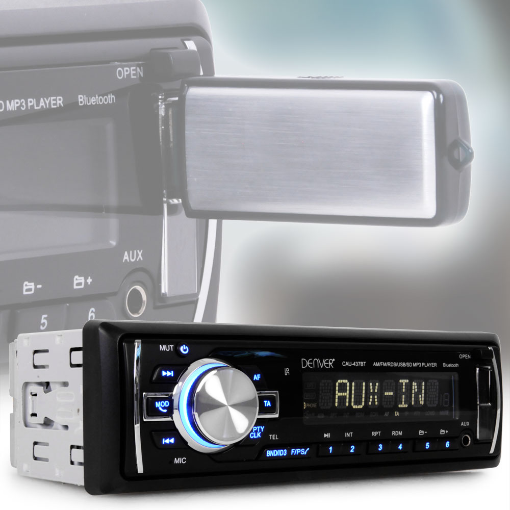 MP3 Autoradio Bluetooth Radio USB Anschluss SD AUX Cinch-Ausgang ...