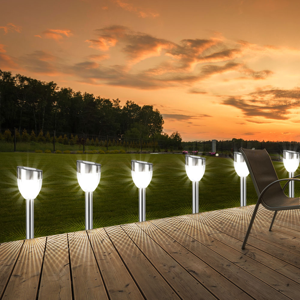 5er set led solar au en lampen garten hof leuchten weg. Black Bedroom Furniture Sets. Home Design Ideas
