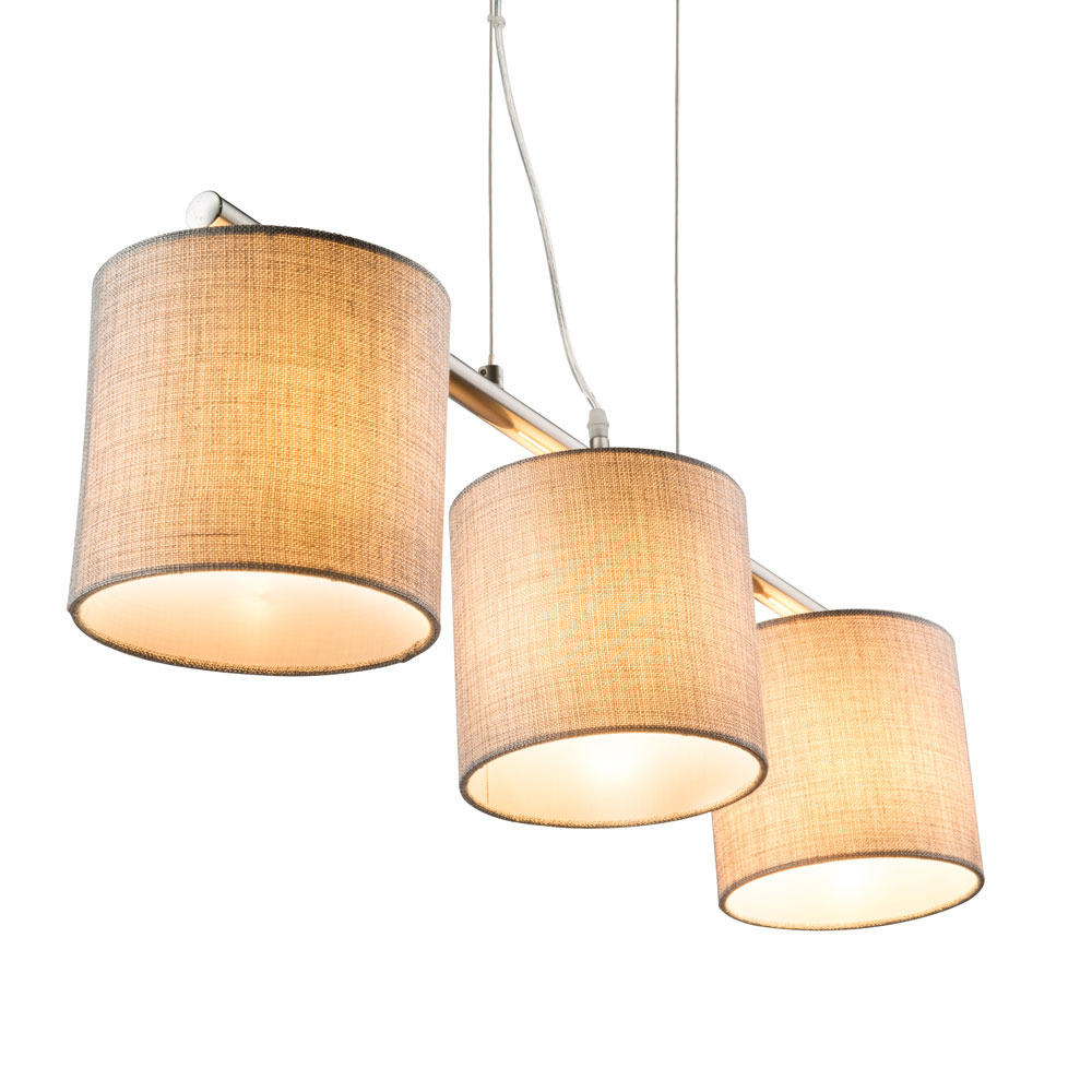 Lampe Stoff. Simple Luce Twine L Braun Amazonde Beleuchtung With ...