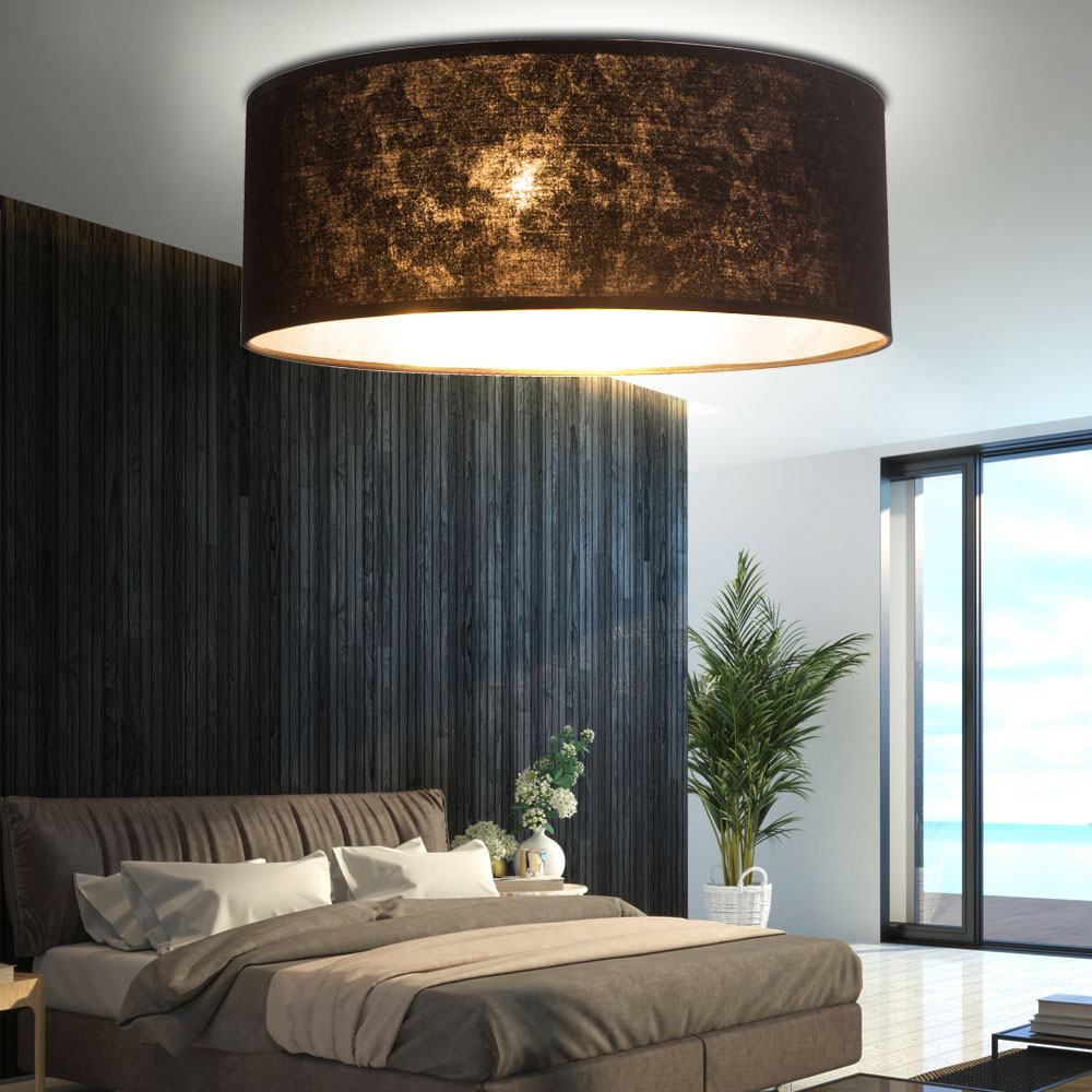 decken leuchte textil schirm strahler schlafzimmer lampe eek a im set inkl led leuchtmittel. Black Bedroom Furniture Sets. Home Design Ideas