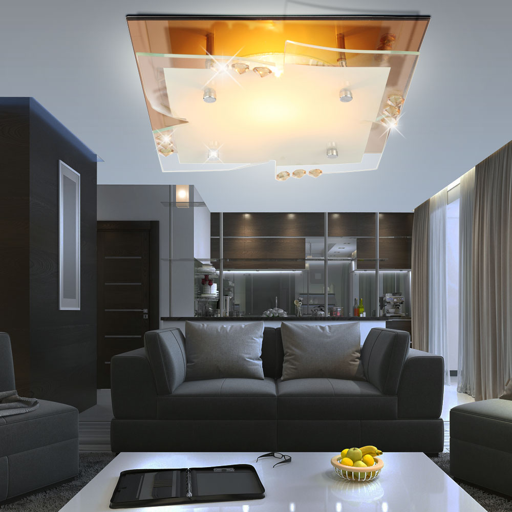 7 watt rgb led decken spiegel kristall wohnzimmer leuchte dimmer farbwechsler kaufen bei www. Black Bedroom Furniture Sets. Home Design Ideas