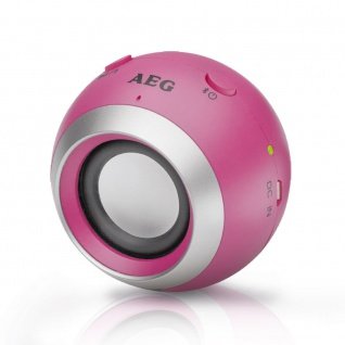 Mini Bluetooth Sound System Lautsprecher Box USB AUX-In HiFi AEG BSS 4817 pink