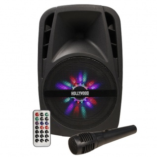 Musik Anlage 300 W Bluetooth Party Karaoke Trolley Stereo SD MP3 USB Mikrofon Hollywood MB-8