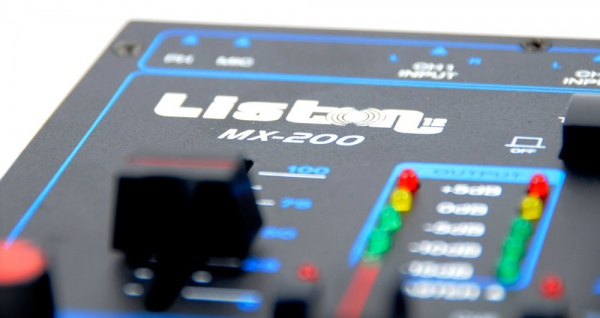 DJ Mischpult 2-Kanal Mixer Party Event Disco Equipment Crossfading Kanalfading Talkover MX-200 - Vorschau 5