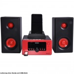 USB Player Radio Bluetooth Hifi Anlage Musik Spieler Alarm Uhr AUX IN LCD Display Lenco MC-020_red